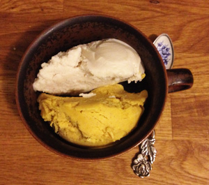 Vanilla  & Pumpkin Ice Cream
